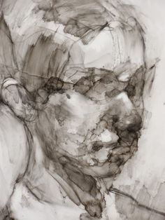 Damian Goidich (USA) - Little Things 15 (detail), 2014 Painting: Sumi Ink