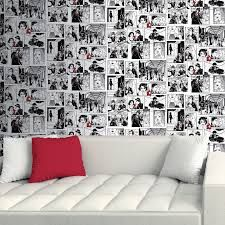 Home Decorating Ideas That Are Ridiculous And Amazing Stripped Wallpaper Black Wallpaper Comic