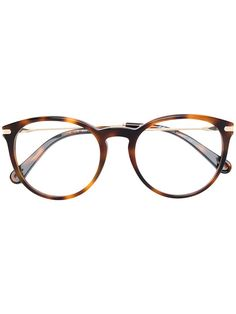 9590ee5d75 Chloé Eyewear Tortoiseshell Effect Eye Glasses - Farfetch