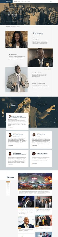 "Site design for Quantasy. Earvin ""Magic"" Johnson has become the most powerful African American man in business. MJE takes his pioneering spirit and will to win a step further. Web Design Mobile, Web Ui Design, Best Web Design, Web Design Trends, Web Design Inspiration, Page Design, Design Ideas, Graphic Design, Interface Web"