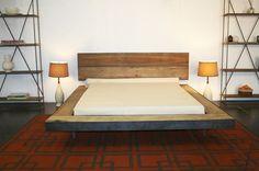 rustic platform bed.
