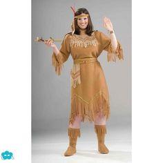 Disfraz de india talla grande para mujer