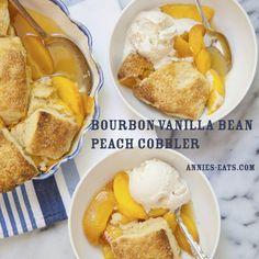 Bourbon Vanilla Bean Peach Cobbler   Annie's Eats