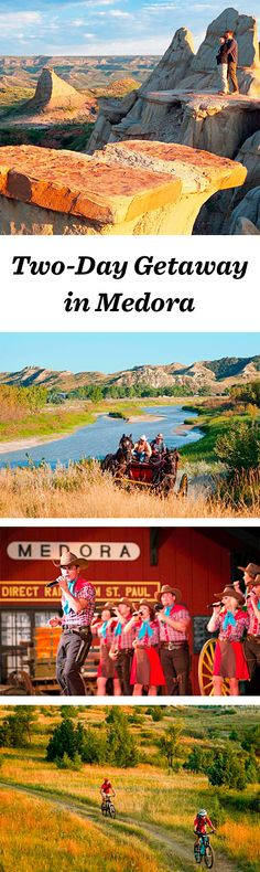 Cowboy-themed, family-oriented Medora makes a great base for a visit to Theodore Roosevelt National Park: http://www.midwestliving.com/travel/north-dakota/medora/two-day-getaway-medora-north-dakota/ #northdakota #medora #nationalparks