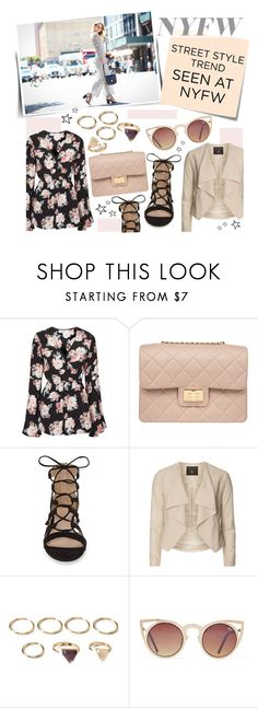 """""""NYFW Street Style: Jumpsuits!"""" by mfardilha ❤ liked on Polyvore featuring Oh My Love, Design Inverso, Topshop, Dorothy Perkins, Post-It and Forever 21"""
