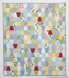 For the Birds by Saltwater Quilts, via Flickr; nice colors with pops of red