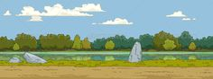 Landscape  #GraphicRiver         The natural landscape cartoon background. No transparency and gradients used. JPG and EPS vector files.     Created: 11October12 GraphicsFilesIncluded: JPGImage #VectorEPS Layered: No MinimumAdobeCSVersion: CS Tags: background #bush #cloud #coast #green #lake #landscape #nature #river #shrub #sky #tree #vector #wallpaper #water