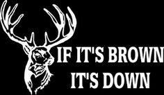 New Custom Screen Printed T-shirt If It's Brown It's Down Huntin