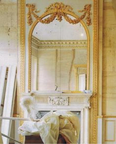 beautiful mantel and mirror