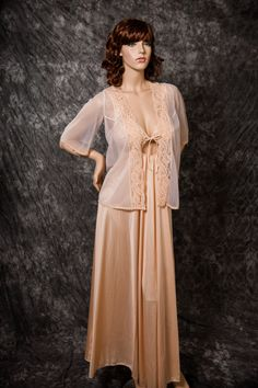 ~1970's Vintage Olga Nightgown Keyhole Style with by MarvelsVintage, $125.00