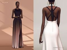 This is a remade version of the 'Gradient dress Leila' because I want to see how much my skill has been improved. Comes in 8 colors.  Found in TSR Category 'Sims 4 Female Formal'