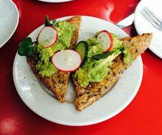 Avocado toast at Buvette nyc