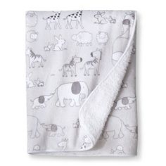 Circo® Grey Animals 2ply Valboa Blanket