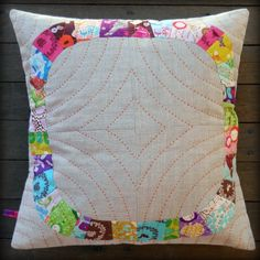 """""""Single girl"""" pattern with hand quilting lines, very pretty!"""