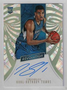 2015/16 Revolution NBA Basketball Karl-Anthony Towns Autographed Rookie Card…