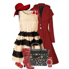 Red & Cream, created by feelgood35 on Polyvore