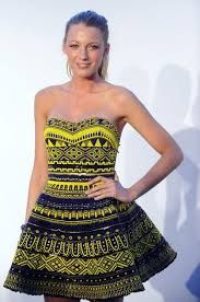 Blake Lively wearing a wax dress