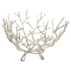 Create a stylish centerpiece on your entryway console or dining room table with this cast iron bowl, showcasing an openwork base and twig-inspired silhouette...