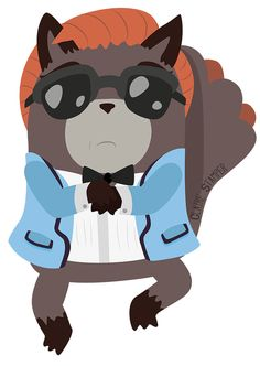 GANGNAM STYLE Raccoon by Claire Stamper http://cjstamper-art.tumblr.com