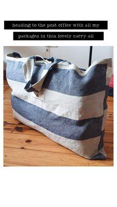 Handmade Oversized Linen Tote Shopper bag | Large yoga equipment bag | handmade in Ireland Sustainable Fashion, Ireland, Yoga, Instagram, Decor, Decoration, Irish, Home Decoration, Decorating