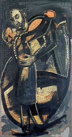 ENRICO ACCATINO artist 1920-2007 abbraccio