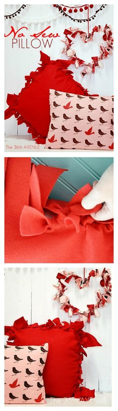 TUTORIAL : How to make a NO-Sew Pillow in minutes… Best diy decor project ever! #decor #home #pillows