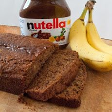 Nutella Banana Bread IV Recipe Afternoon Tea, Breads with butter, white sugar, eggs, bananas, sour cream, vanilla extract, ground cinnamon, salt, baking soda, all-purpose flour, Nutella