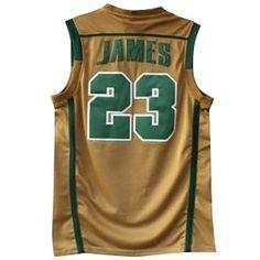 0dfdd8d0e055 Lebron James St Mary s Irish Throwback High School Basketball Jersey