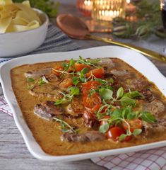Italian pork fillet gratin – World Food Pork Recipes, Vegetarian Recipes, Cooking Recipes, Food For The Gods, Pork Fillet, Food Porn, Good Food, Yummy Food, Tasty Videos