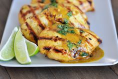 Mel's Kitchen Cafe | Grilled Lime Coconut Chicken with Coconut Rice