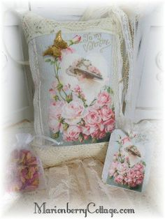 KEEPSAKE Gift Pillow w/matching tag and sachet TO MY VALENTINE