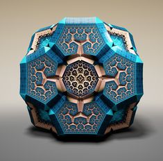 Fabergé Fractals by Tom Beddard, rendered with the artist's WebGL 3D fractal creator