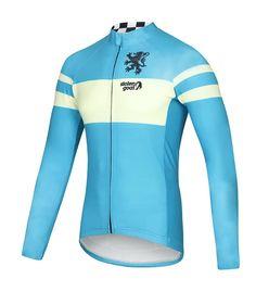 Buy Stolen Goat Bodyline LS Cycling Jersey - Men s Retro Belgian Blue 163d675cd