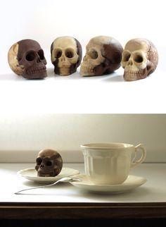 Delicious chocolate skull with crispy corn flakes. - $8.11