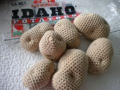 crocheted potatoes