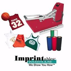 Heat-Press-Package-Imprintables-Red-Press-16-034-x-20-034-and-Heat-Transfer-Supplies