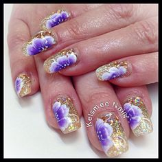 Young Nails gel glitters onestroke flower