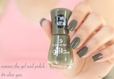 essence the gel nail polish - 84 olive you
