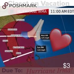 CLOSET ON VACATION DUE TO HURRICANE IRMA! ❤️ CLOSET CLOSED DUE TO HURRICANE IRMA! PLEASE CHECK BACK AFTERWARDS ✨ SENDING PRAYERS TO ALL MY FELLOW FLORIDIANS  STAY SAFE ❤️ Other