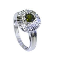 ideal Tourmaline Silver Multi Ring handmade L-1in US 5678