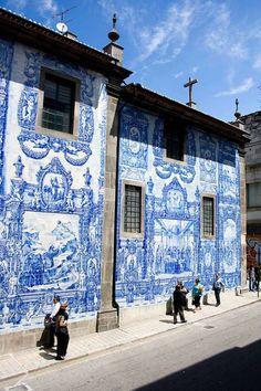 Azulejos.  Belleza Portuguesa Porto, Portugal