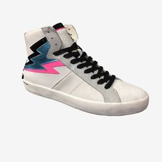 White high-top kicks like lightning. Crime London cf540ee8b8c