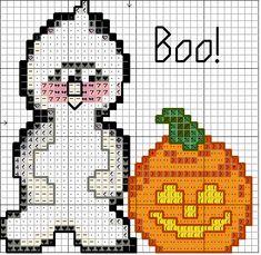 Tiny Halloween Ghost And Jack-O-Lantern Free patterns