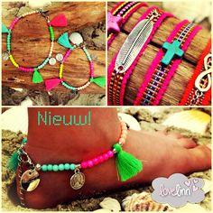 Neon hippie enkelbandjes en friendship bracelets! www.lovelinn.nl
