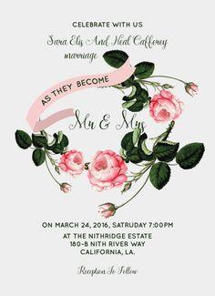 Wedding invitation. Wedding invitation. by bohoweddingcards