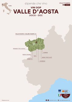 Tutti i vini DOP (DOC) della Valle d'Aosta, localizzati sulla carta regionale Wine Facts, Moving To Italy, Wine News, Wine Education, Italian Wine, Wine List, Wine Drinks, How To Memorize Things, Food