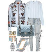 The Perfect Shade of Blue  Click link in bio to shop the look and outfit details.  #Lotd #ootd #style #fashion #fashiondaily #instalike #instadaily #instastyle #instafashion #styleinspiration #styleismyobsession #Louboutin #Chanel #Balmain #Hermes #Gucci