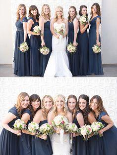 navy bridesmaids dresses @weddingchicks