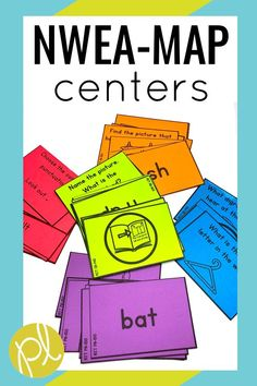 NWEA MAP Reading Centers! These centers can be added to your literacy block and Guided Reading. They are also great practice in small groups! This set is aligned to RIT Bands 131-180 for the NWEA MAP Primary Reading test. These games and task cards make test prep much more fun! From Positively Learning #nwea #nweamap
