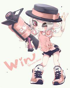 Nintendo Splatoon, Splatoon 2 Art, Splatoon Comics, Cute Kawaii Drawings, Kawaii Art, Wii U, Fan Art, Pokemon, Character Design Inspiration